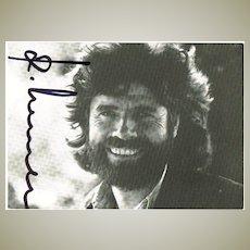 Reinhold Messner Autograph. CoA