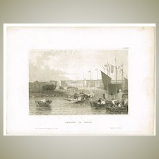Old China: Antique Etching Canton in China