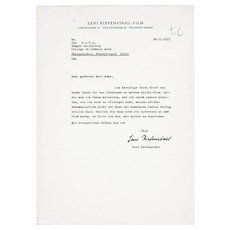 Leni Riefenstahl Autograph Lot. Hand-signed Letter and Photo CoA