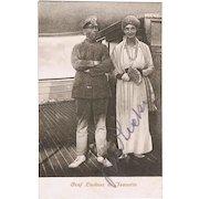 Felix Graf Luckner Autograph: Hand-signed Postcard. CoA