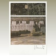 Christo Autograph on Artist Postcard, CoA