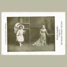 The smallest Dancer in The World, vintage Postcard