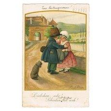 Pauli Ebner Postcard. Parting Couple 1929