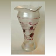 Art Nouveau Iridiscent Glass Vase by Poschinger