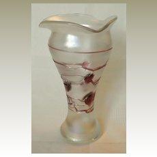 Art Nouveau Iridiscent Glass Vase by Poschinger