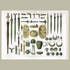 Three Age System Culture: Antique Chromo Lithograph. 1902