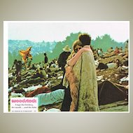 4 authentic Woodstock Film Lobby Cards from Europe