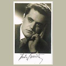 Anton Dermota Autograph. Early Signature on Photo. CoA