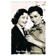 Romy Schneider and Lilli Palmer, vintage Photo