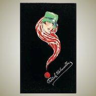 Scarce Art Deco Xmas Postcard 1929