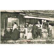 A Bosnian Shop. Vintage Postcard from Sarajevo