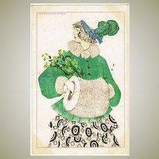 Mela Köhler Art Deco Postcard Girl with Muff