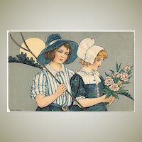 Florence Hardy Postcard Harvest. Litho