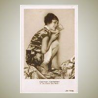 Film Star with little Teddy Bear Vintage Photo Postcard