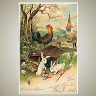 Happy Easter. Embossed, lithographed Postcard 1905