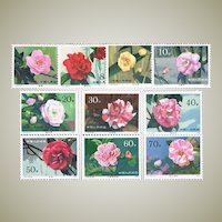Chinese Stamp Set Camellias 1979, T37, MNH