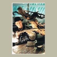 Gunther von Hagens Autograph on Photo. Controversial Anatomist