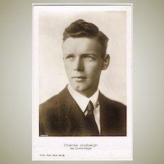 Charles Lindbergh vintage Photo Postcard