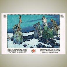 Alfred Offner Postcard with Red Cross Motif World War 1