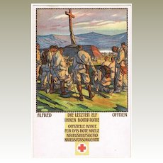 Red Cross postcard by Alfred Offner