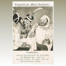 Pan-Slavists: Mocking Postcard WWI Wiener Caricaturen