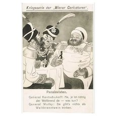 Pan-Slavists: Mocking Postcard WWI Wiener Caricaturen