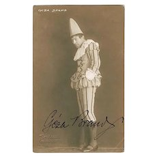 Geza Brand Autograph: Signed Studio Photo. 1923, CoA