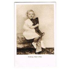 Archduke Robert d' Este with his Teddy Bear