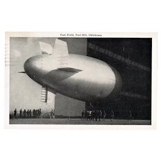 Zeppelin Postcard. WW2 Field Post Fort Sill Oklahoma.