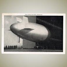 Zeppelin Postcard. WW2 Field Post Fort Sill Oklahoma.
