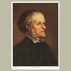 Richard Wagner Portrait Postcard