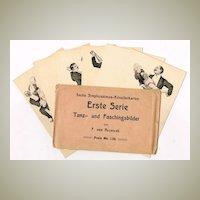Complete Set of Simplicissimus Postcards in Original Sleeve