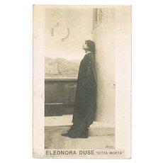 Eleonora Duse: Vintage Photo Postcard  1911