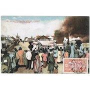 Dakar vintage Postcard Burning Village 1913