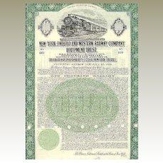 New York, Ontario and Western Railway Company – 1000 $ Bond 1929