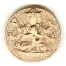 Antique Buddhist token, Earthenware 18 – 19th Century