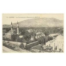 Damas: Vintage Postcard of the Syrian Town Damascus with Mosques
