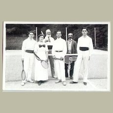 Photograph showing a mixed group of Tennis players. c. 1920