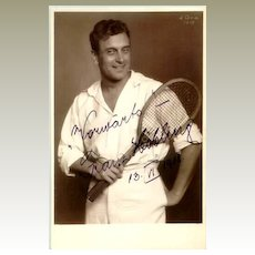 1918: Autographed  Photo of Tennis Player. COA included