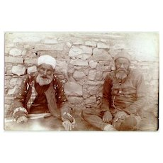 Albania: Photo of 2 old Albanians, dressed in Rags.