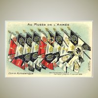 W.W.I.: The flags of the French Infantry troops during World War 1.