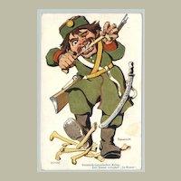 Mocking card against Japan. WWI: Russian Japanese War:
