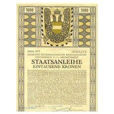 1917: Czeschka designd Art Deco Bond