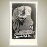 Skiing in Austria. Vintage Advertising Postcard for Puchberg