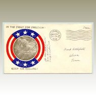 1944, Patriotic Cover from Camp Crowder USA