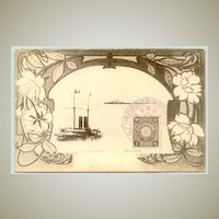 Japan: Triumphal Naval Review: Decorative Postcard