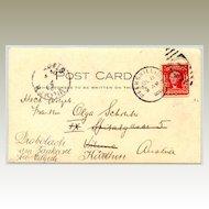 USA: State Camp 1904. Postcard to Austria