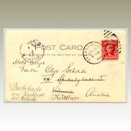 USA: State Camp 1904. Postcard to Austria