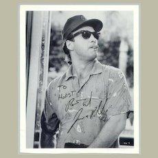 1994: Jim Belushi Autograph on larger b/w photo, incl COA