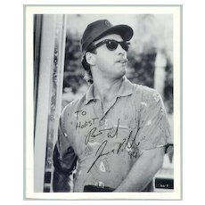 1994: Jim Belushi Autograph on larger b/w photo, incl COA